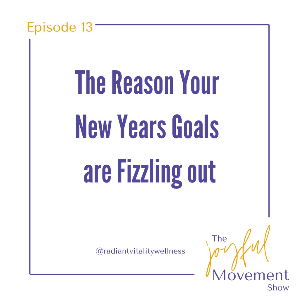 EP 13 - The Reason Your New Years Goals are Fizzling Out