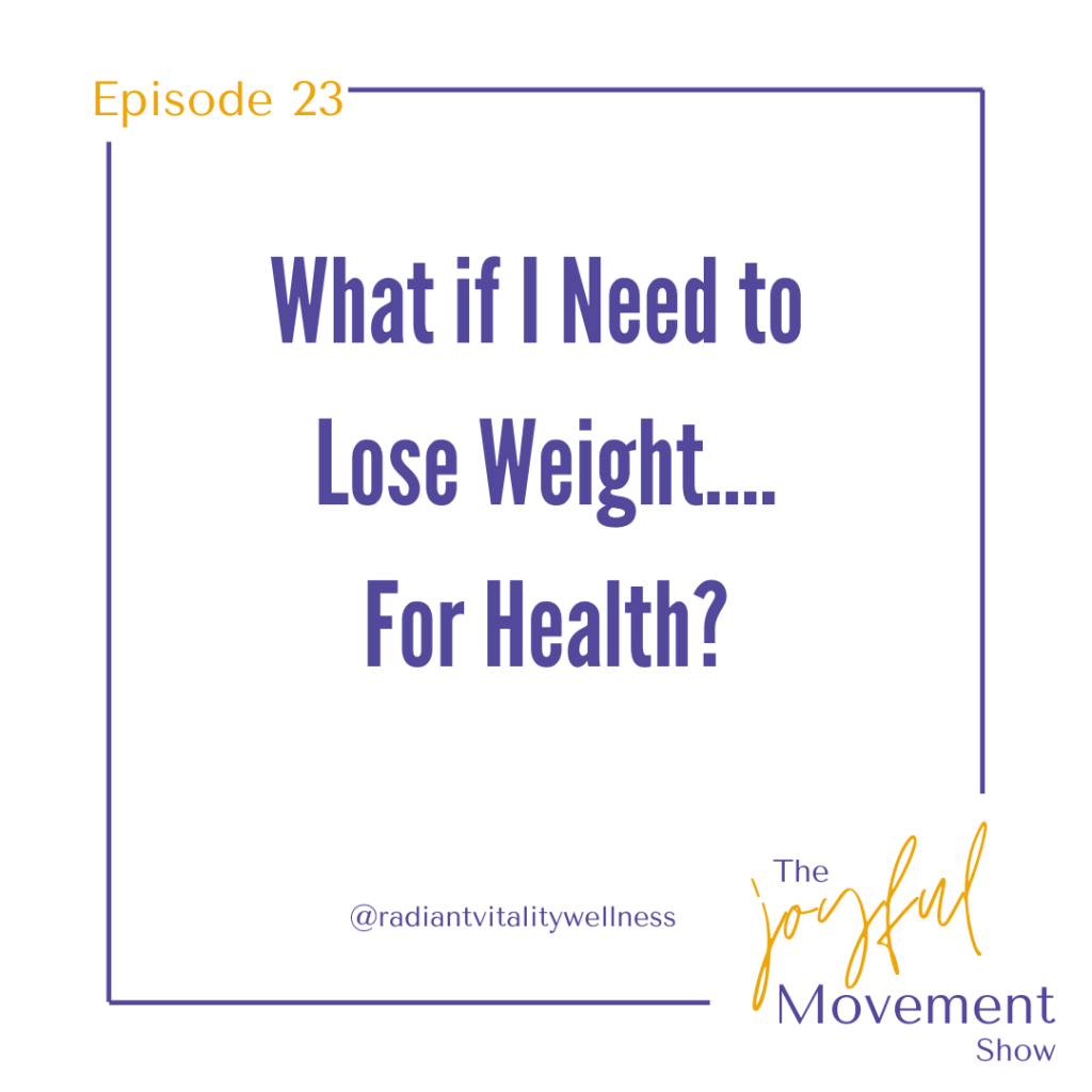 EP 23 - What if I need to lose weight.... for health?